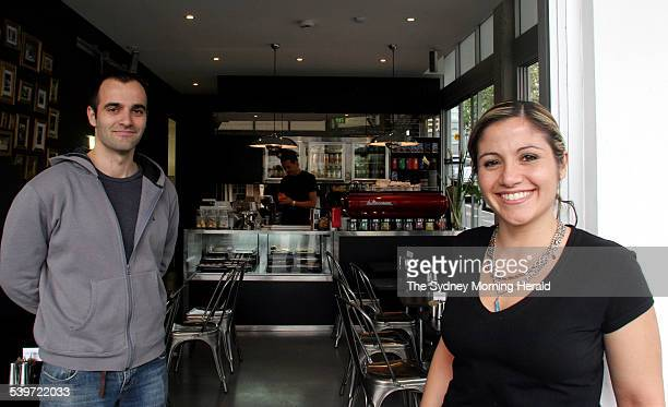 Brother and sister cafe owners Sam Sgambellone and Catherine Sgambellone at Artisan Focacceria 230 Palmer street Darlinghurst 6 September 2005 SMH...