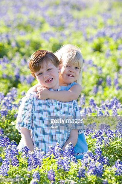 Brother and Sister in Bluebonnets