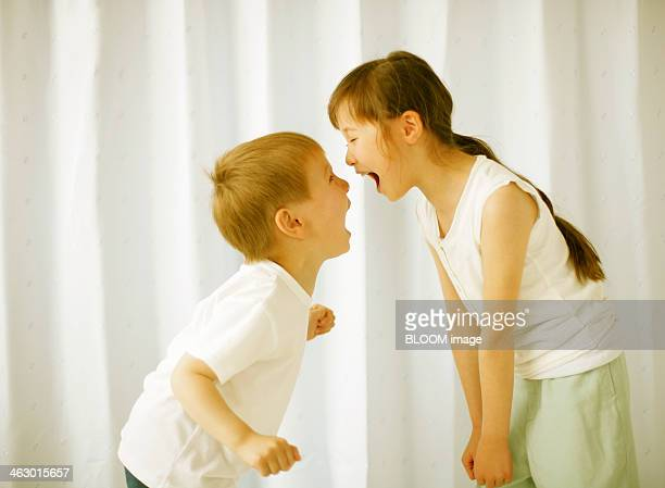 Brother And Sister Shouting At Each Other
