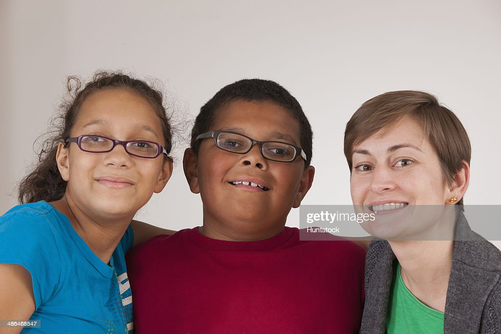 Brother and sister with learning disabilities with their mentor