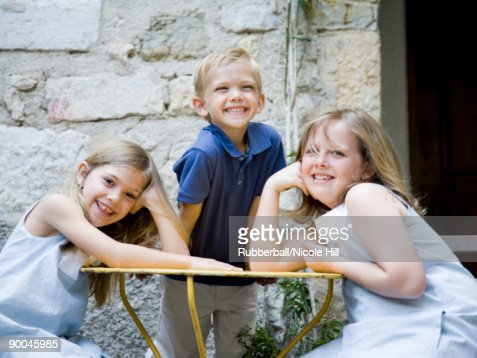 brother and sisters : Stock Photo
