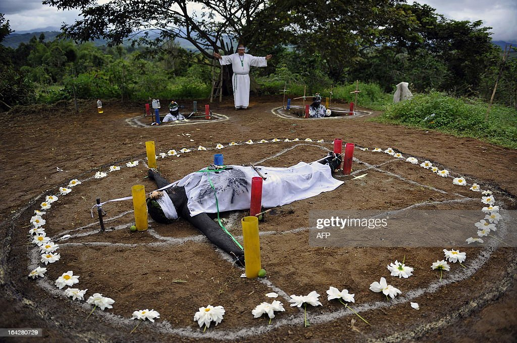 'Brother Hermes' performs an exorcism on three people who claims to be possessed by spirits on June 1 in La Cumbre Valle del Cauca department...