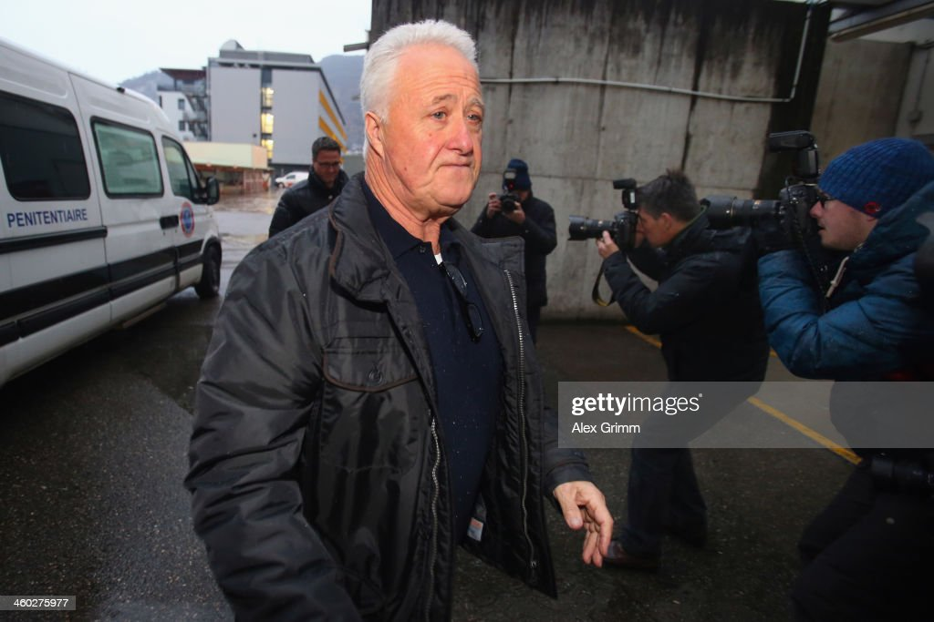 Brother <a gi-track='captionPersonalityLinkClicked' href=/galleries/search?phrase=Ralf+Schumacher&family=editorial&specificpeople=171803 ng-click='$event.stopPropagation()'>Ralf Schumacher</a> and father Rolf Schumacher arrive at the Grenoble University Hospital Centre where former German Formula One driver Michael Schumacher is being treated for a severe head injury following a skiing accident on Sunday in Meribel on January 3, 2014 in Grenoble, France.