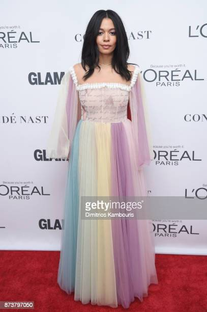 Brother Vellies Creative Director Aurora James attends Glamour's 2017 Women of The Year Awards at Kings Theatre on November 13 2017 in Brooklyn New...