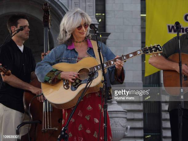 O Brother Where Art Thou with Emmylou Harris during ABC's Good Morning America O Brother Where Art Thou Summer Concert Series at Bryant Park in New...