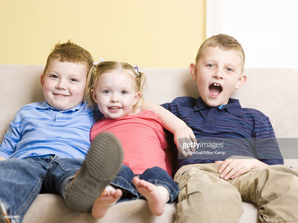 brothers and sister : Stock Photo