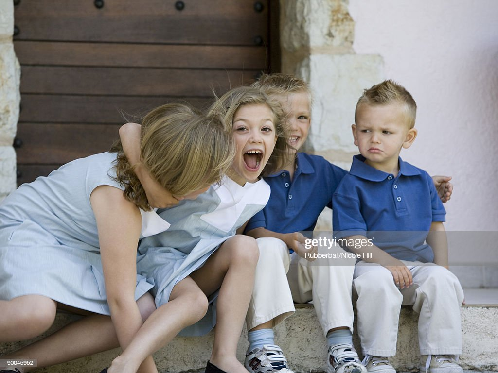 brothers and sisters : Stock Photo