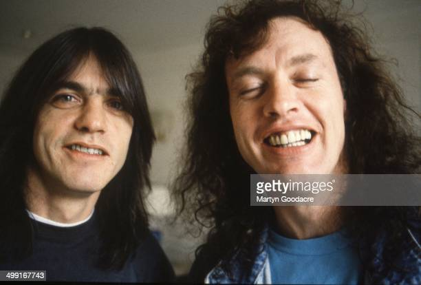 Brothers Angus and Malcolm Young of AC/DC portrait Germany 1992
