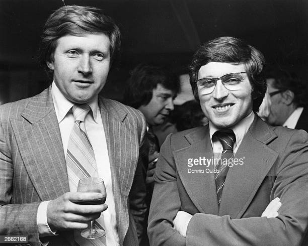 Brothers David left and Jonathan Dimbleby sons of the TV and radio commentator Richard Dimbleby attend a Foyles Literary Luncheon at the Dorchester...
