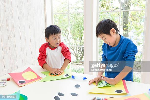 Brothers Doing Craft Work