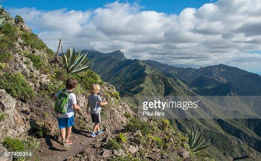 Hiking Mounains In Canary Islands Volcano