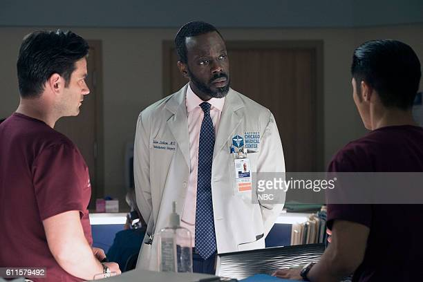 MED 'Brother's Keeper' Episode 204 Pictured Colin Donnell as Connor Rhodes Ato Essandoh as Isidore Latham Brain Tee as Ethan Choi