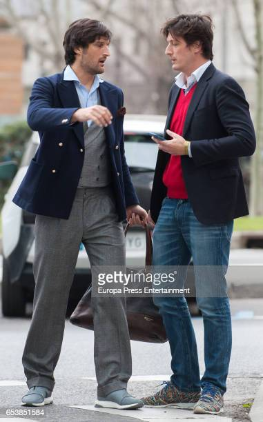 Brothers Luis Medina and Rafael Medina are seen on February 23 2017 in Madrid Spain