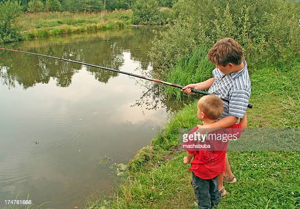 Brothers on fishing