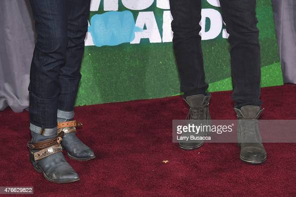 Brothers Osborne fahion detail attend the 2015 CMT Music awards at the Bridgestone Arena on June 10 2015 in Nashville Tennessee