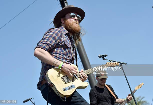 Brothers Osborne pefroms onstage during day one of 2015 Stagecoach California's Country Music Festival at The Empire Polo Club on April 24 2015 in...