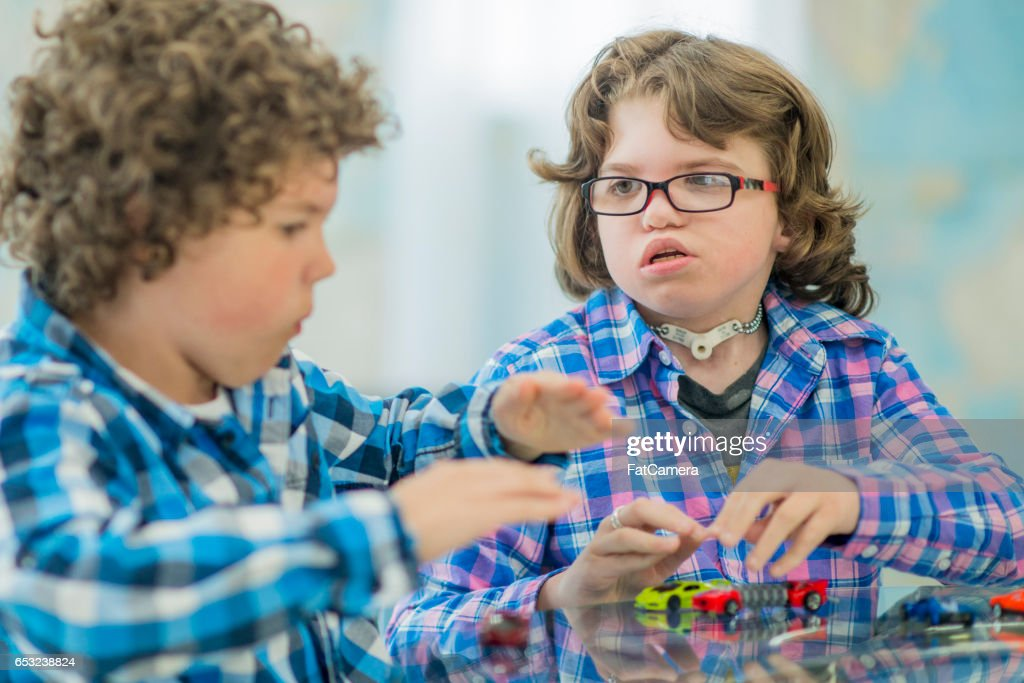 Brothers Playing at Home : Stock Photo