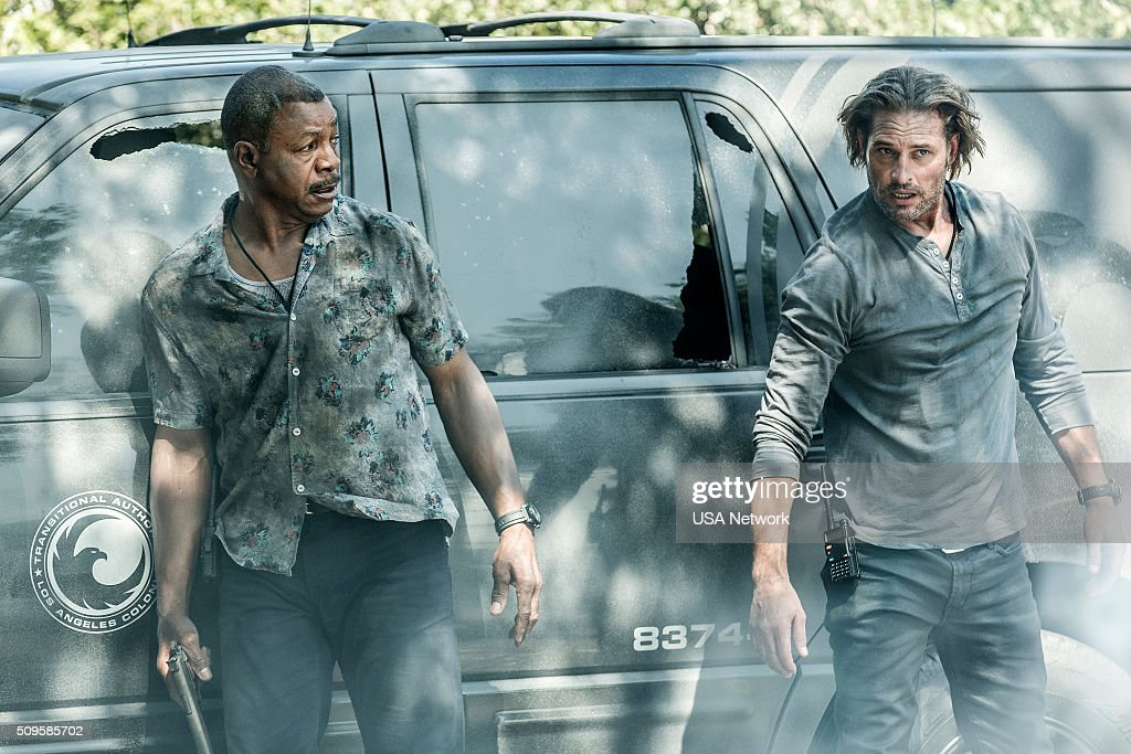 COLONY 'Broussard' Episode 107 Pictured Carl Weathers as Beau Josh Holloway as Will Bowman