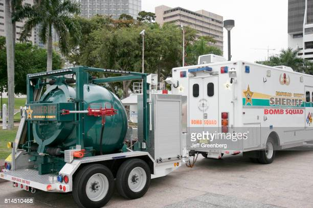 Broward County Bomb Squad equipment display at the Urban Area Security Initiative in Bayfront Park