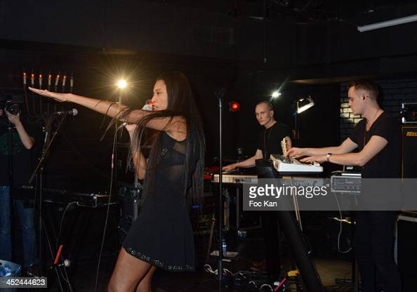 Brown and her band perform during The VV Brown Show Case Hosted By Paco Rabanne Excess Diary Perfume at the Tiitty Twister Club on November 28 2013...