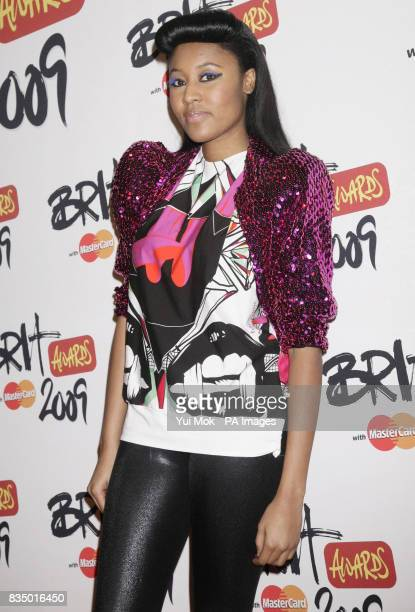 VV Brown arriving for the Brit Awards shortlist announcement at the Roundhouse in London