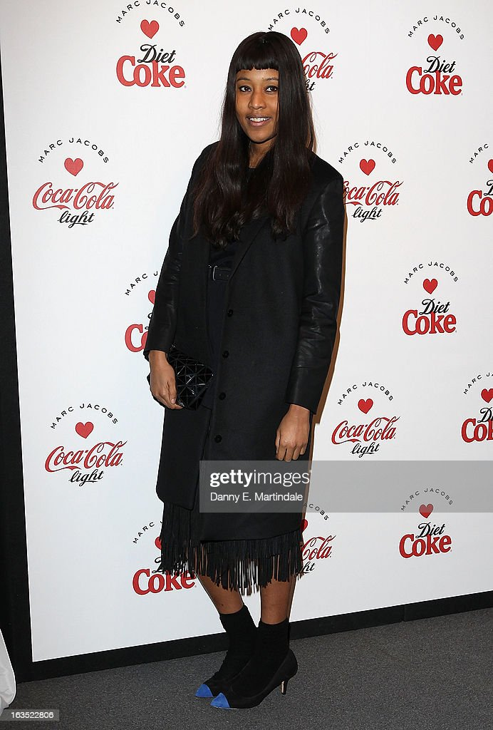 VV Brown attends the launch party announcing Marc Jacobs as the Creative Director for Diet Coke in 2013 on March 11, 2013 in London, England.