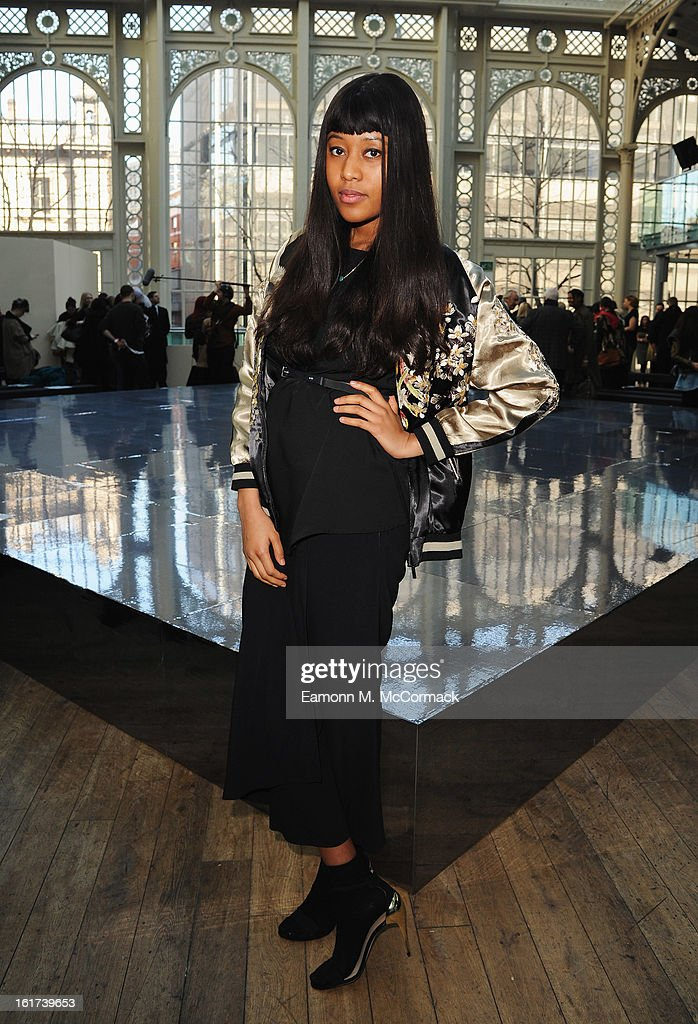 VV Brown attends the London College of Fashion MA show during London Fashion Week Fall/Winter 2013/14 at The Royal Opera House on February 15, 2013 in London, England.