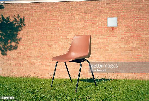 Brown Chair on grass