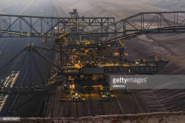 Brown coal opencast mining