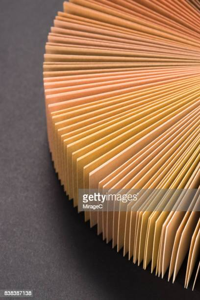 Brown Colored Paper Cards Fan Out Shape