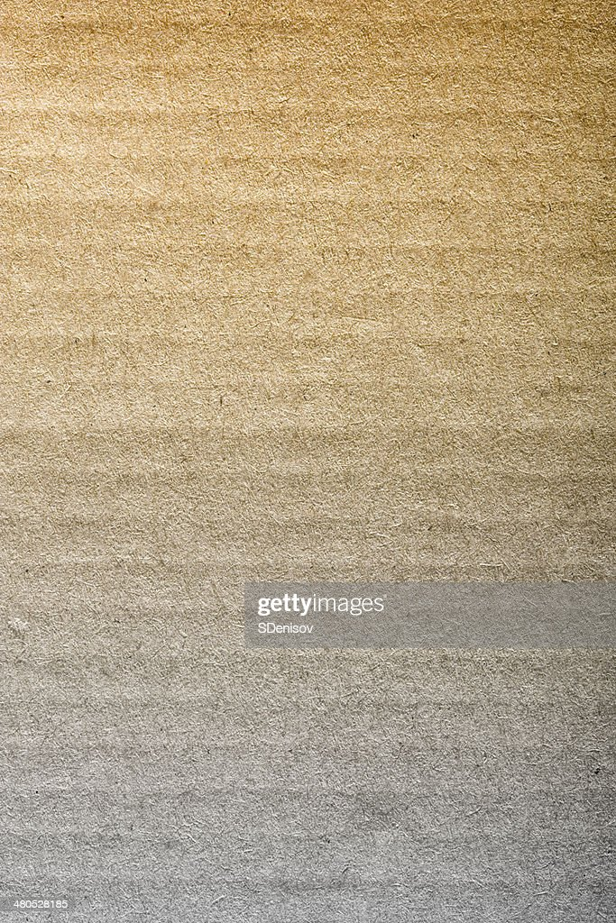 Brown corrugated cardboard : Stock Photo