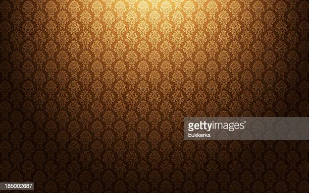 Brown damask wallpaper background