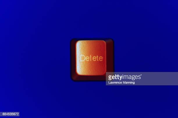 Brown Delete Keyboard Key