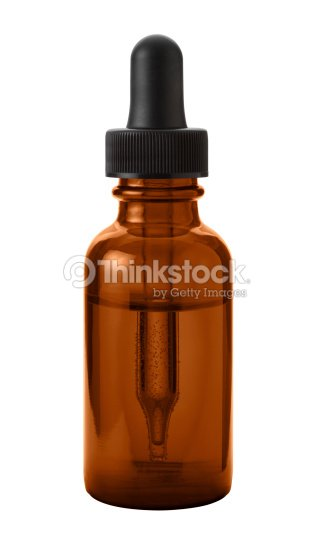 Brown Eye Dropper Bottle  with a clipping path : Stock Photo