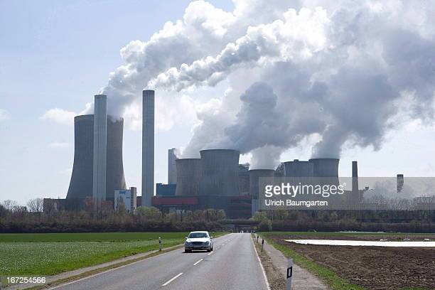 Brown goal power plant Niederaussem of the RWE Power AG on April 20 2013 in Niederaussem Germany