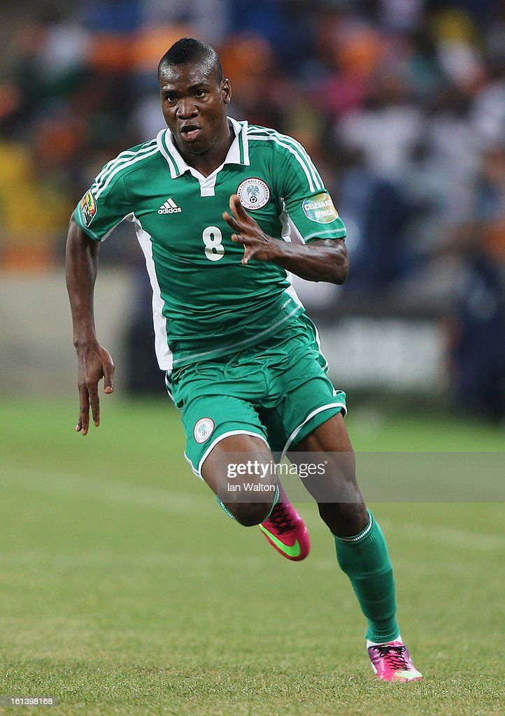 <a gi-track='captionPersonalityLinkClicked' href=/galleries/search?phrase=Brown+Ideye&family=editorial&specificpeople=4417854 ng-click='$event.stopPropagation()'>Brown Ideye</a> of Nigeria during the 2013 Africa Cup of Nations Final match between Nigeria and Burkina at FNB Stadium on February 10, 2013 in Johannesburg, South Africa.