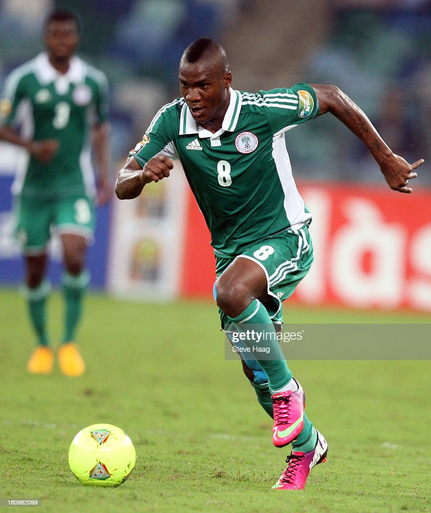 Brown Ideye of Nigeria during the 2013 African Cup of Nations Semi-Final match between Mali and Nigeria at Moses Mahbida Stadium on February 06, 2013 in Durban, South Africa.