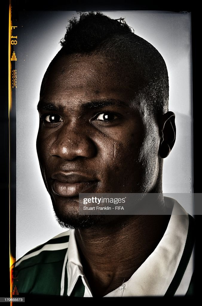 <a gi-track='captionPersonalityLinkClicked' href=/galleries/search?phrase=Brown+Ideye&family=editorial&specificpeople=4417854 ng-click='$event.stopPropagation()'>Brown Ideye</a> of Nigeria poses for a portrait at Cesar business hotel on June 16, 2013 in Belo Horizonte, Brazil.