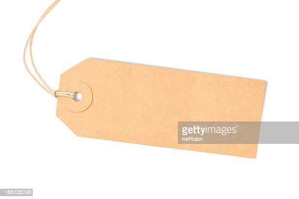 Marrone etichetta isolato su bianco