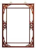 Brown lacquer frame