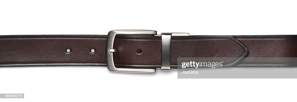 Brown Leather Belt Isolated