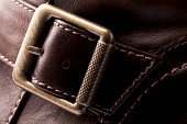 Brown Leather Boot Detail