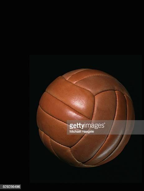 Brown Leather Medicine Ball