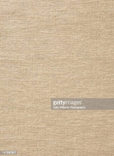 A brown linen tablecloth