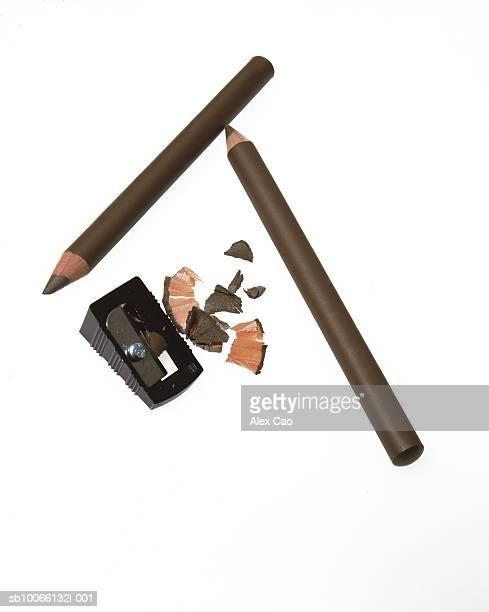 Brown make-up pencil and sharpener