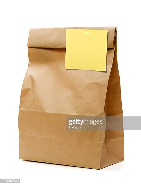 Brown Paper Bag with Blank note.