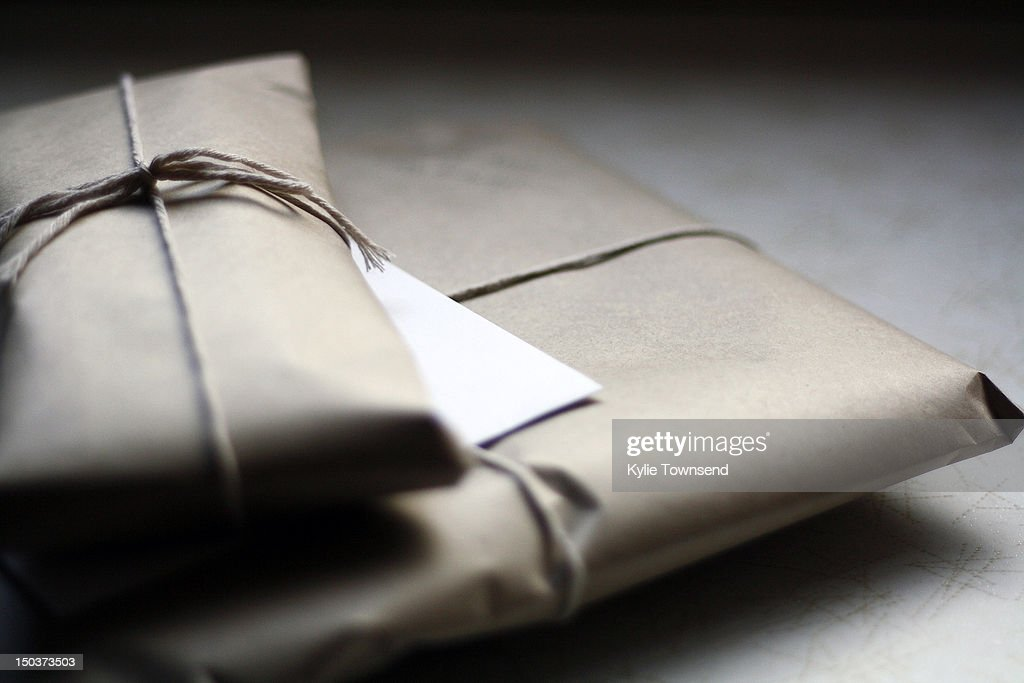 Brown paper packages : Stock Photo