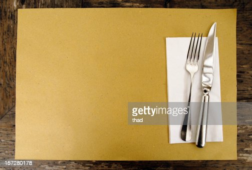 Brown Paper Place Setting