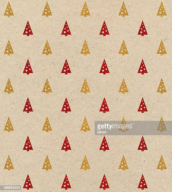 brown paper with Christmas tree design