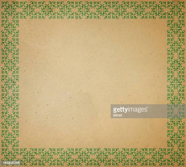 brown paper frame mit Grün